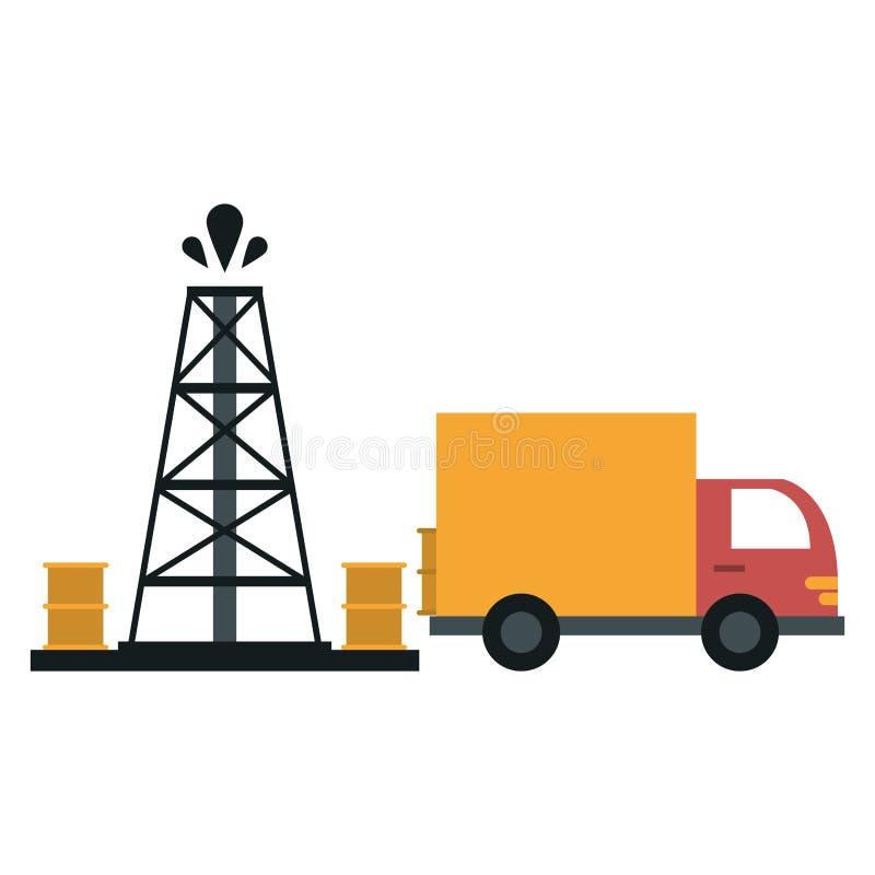 Βιομηχανία αντλιών πετρελαίου ελεύθερη απεικόνιση δικαιώματος