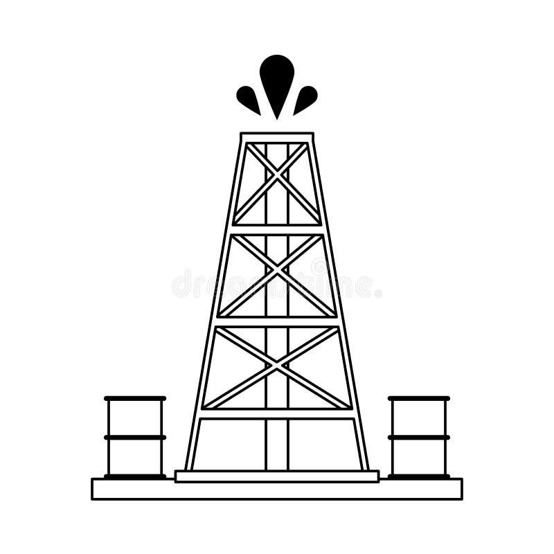 Βιομηχανία αντλιών πετρελαίου διανυσματική απεικόνιση