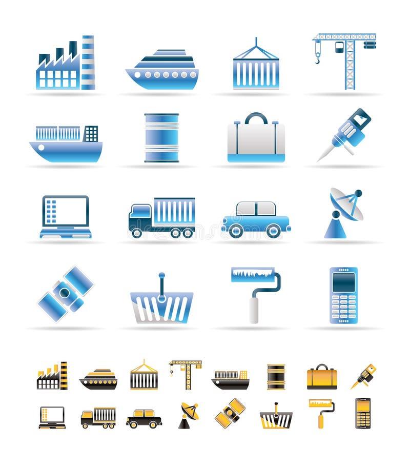 βιομηχανία επιχειρησια&kappa διανυσματική απεικόνιση