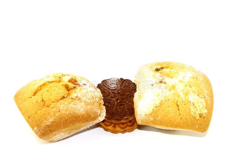 Βιομηχανία ζαχαρωδών προϊόντων φρέσκια και εύγευστη στα ποτά τσαγιού στο άσπρο υπόβαθρο στοκ εικόνες