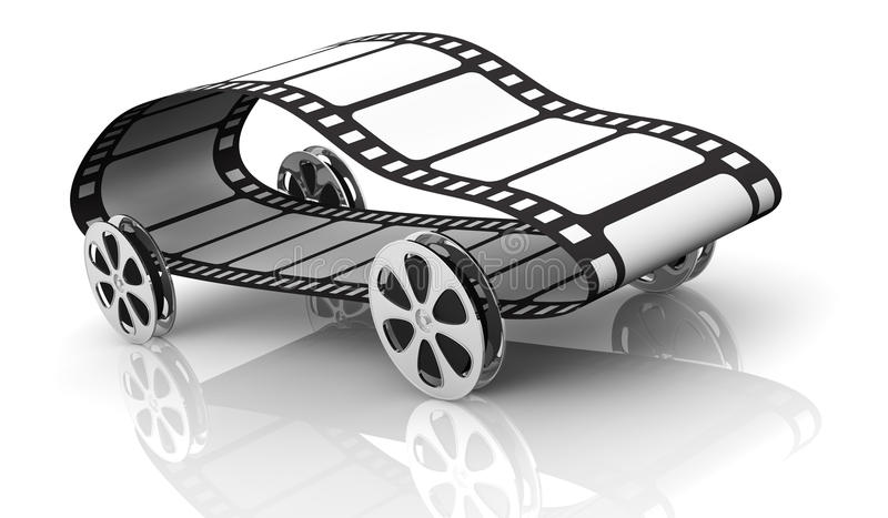 βιομηχανία κινηματογράφου έννοιας διανυσματική απεικόνιση