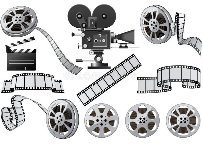 βιομηχανία κινηματογράφο& ελεύθερη απεικόνιση δικαιώματος