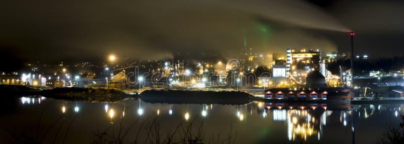 Βιομηχανία μύλων εγγράφου σε Ã-ã-rnsköldsvik, Σουηδία στοκ εικόνες