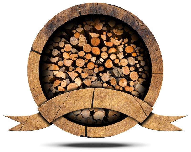 Βιομηχανία ξυλείας - ξύλινο εικονίδιο απεικόνιση αποθεμάτων