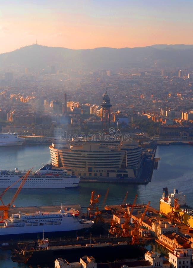 βιομηχανία της Βαρκελώνης στοκ εικόνα