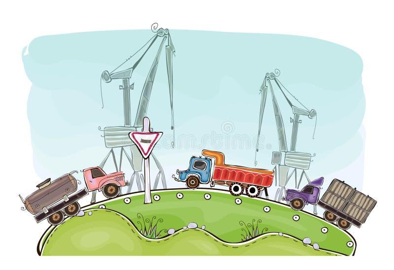 Βιομηχανίες και φύση, περιβαλλοντικό υπόβαθρο έννοιας απεικόνιση αποθεμάτων