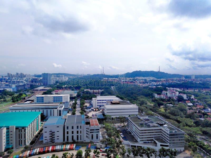 Βιομηχανίες σε Clementi, Σιγκαπούρη στοκ εικόνα με δικαίωμα ελεύθερης χρήσης