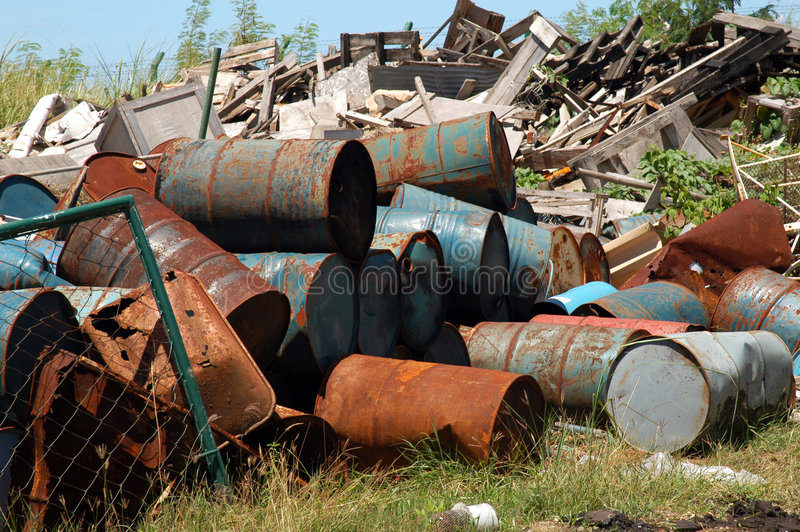 βιομηχανικά απόβλητα στοκ εικόνες με δικαίωμα ελεύθερης χρήσης