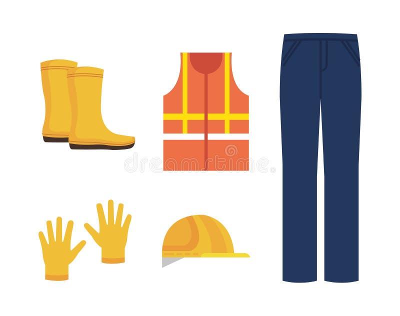 βιομηχανικά εικονίδια εξοπλισμού ασφάλειας απεικόνιση αποθεμάτων