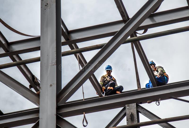 Βιομηχανικά πλαίσια εργατών οικοδομών στοκ εικόνα με δικαίωμα ελεύθερης χρήσης