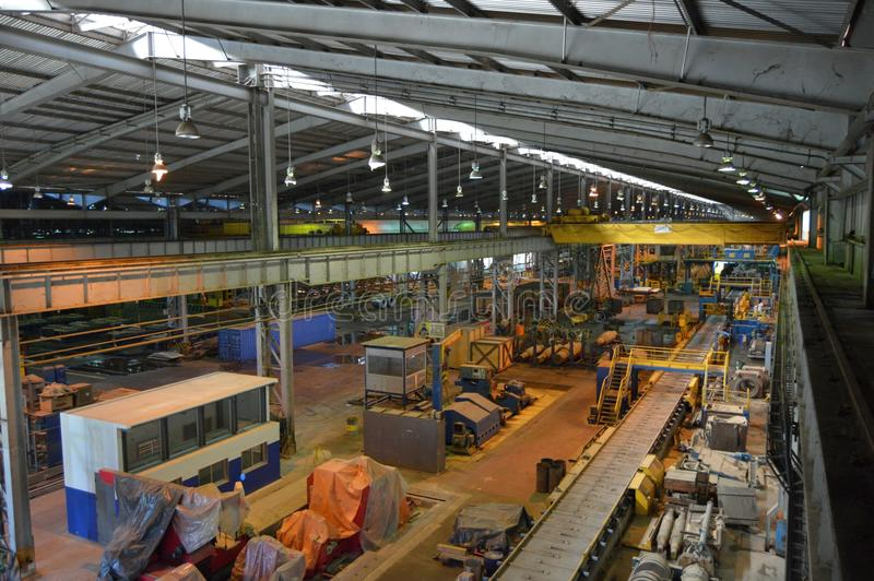 Βιομηχανικές εγκαταστάσεις, εσωτερική άποψη στοκ φωτογραφία με δικαίωμα ελεύθερης χρήσης
