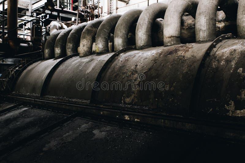 Βιομηχανικές μηχανές - εγκαταλειμμένες εγκαταστάσεις παραγωγής ενέργειας άνθρακα - Νέα Υόρκη στοκ φωτογραφία με δικαίωμα ελεύθερης χρήσης