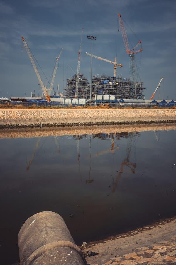 Βιομηχανικές σκηνές από την Ταϊλάνδη στοκ φωτογραφία με δικαίωμα ελεύθερης χρήσης