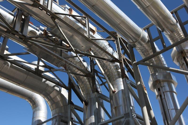 βιομηχανικές σωληνώσει&sigmaf στοκ εικόνα με δικαίωμα ελεύθερης χρήσης