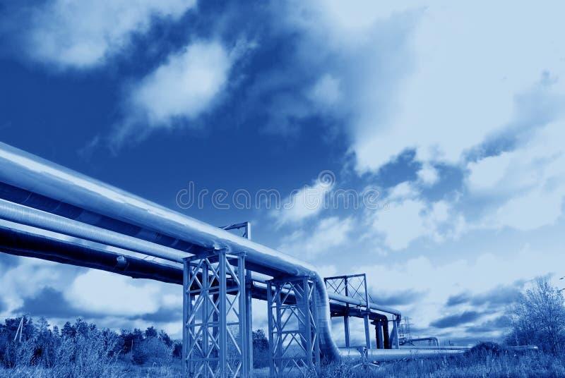 βιομηχανικές σωληνώσει&sigmaf στοκ φωτογραφίες