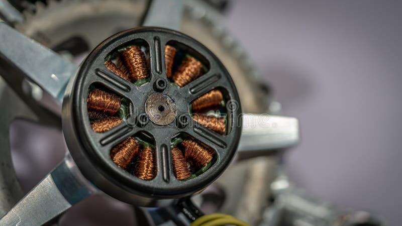 Βιομηχανική άνεμος γεννήτρια σπειρών ηλεκτρομαγνητών στοκ εικόνες
