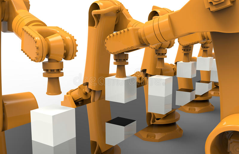 Βιομηχανική έννοια αυτοματοποίησης ελεύθερη απεικόνιση δικαιώματος