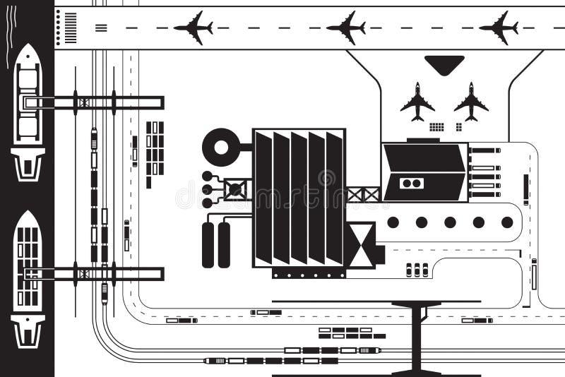 Βιομηχανική επικοινωνία άνωθεν ελεύθερη απεικόνιση δικαιώματος