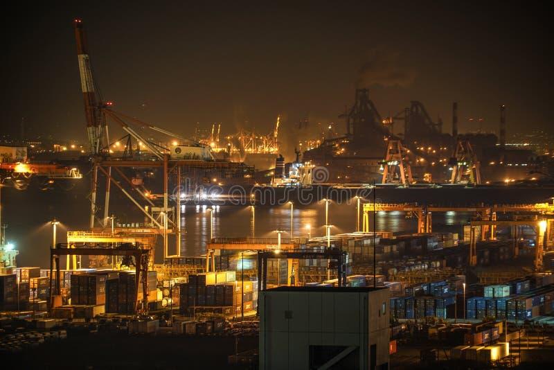 Βιομηχανική ζώνη Keihin που είναι ορατή από την πόλη Kawasaki Marien Kawasaki, νομαρχιακό διαμέρισμα Kanagawa στοκ φωτογραφία με δικαίωμα ελεύθερης χρήσης