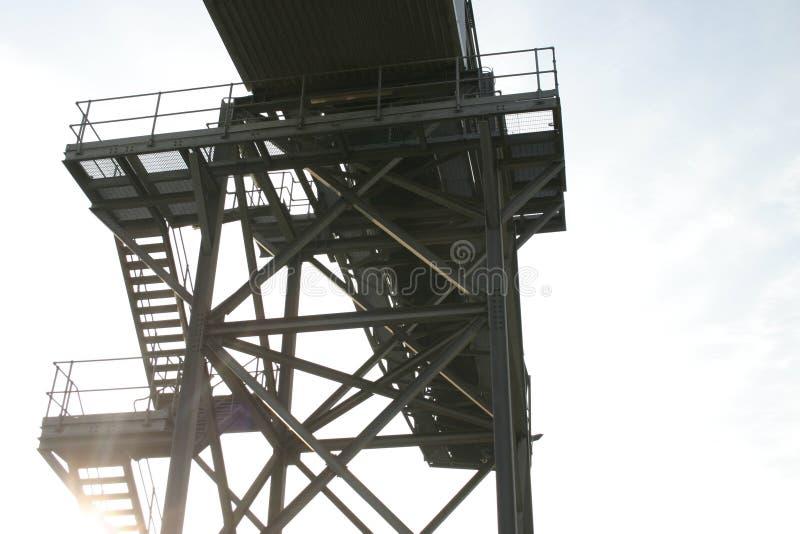 βιομηχανική ηλιοφάνεια β&e στοκ φωτογραφίες