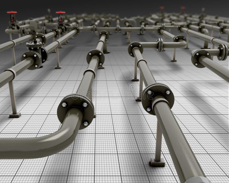 βιομηχανική διοχέτευση μ& διανυσματική απεικόνιση
