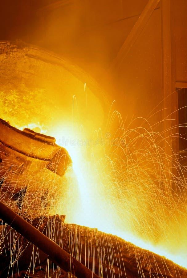 βιομηχανική μεταλλουργία στοκ φωτογραφία