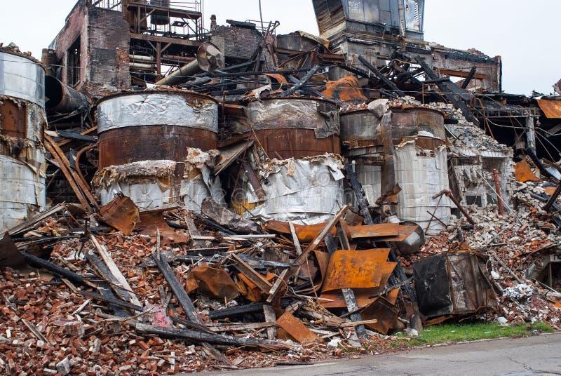 Βιομηχανική πυρκαγιά 0682 στοκ φωτογραφία