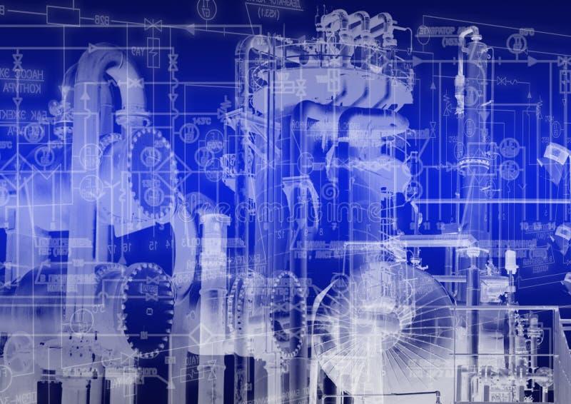 Βιομηχανική τεχνολογία εφαρμοσμένης μηχανικής στοκ εικόνα με δικαίωμα ελεύθερης χρήσης