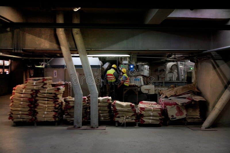 Βιομηχανικοί εργάτες τσιμέντου στοκ φωτογραφίες με δικαίωμα ελεύθερης χρήσης