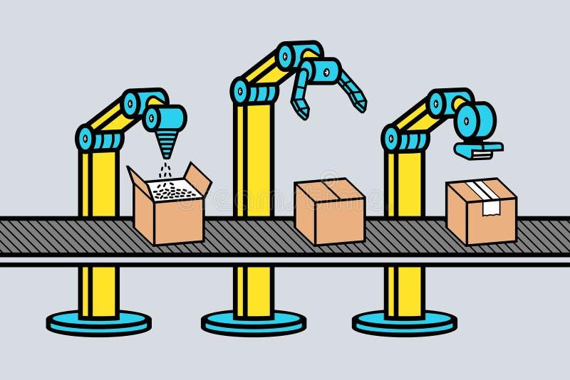 Βιομηχανικός βραχίονας ρομπότ διανυσματική απεικόνιση