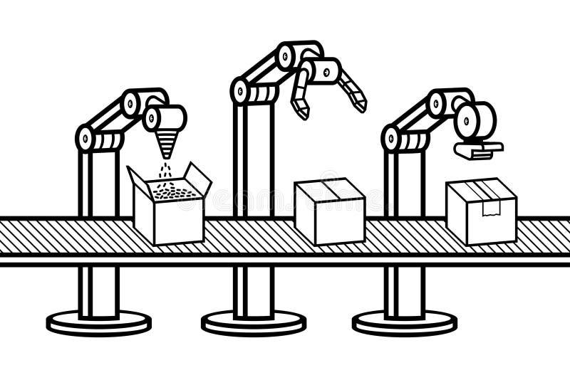 Βιομηχανικός βραχίονας ρομπότ ελεύθερη απεικόνιση δικαιώματος