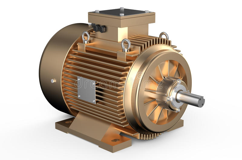 Βιομηχανικός ηλεκτρικός κινητήρας χαλκού διανυσματική απεικόνιση