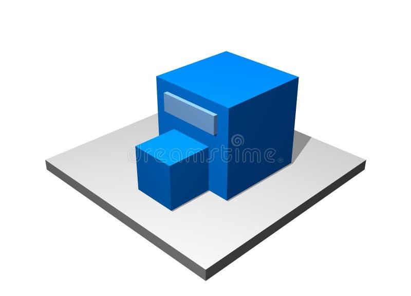 βιομηχανικός κατασκευαστικός προμηθευτής διαγραμμάτων διανυσματική απεικόνιση