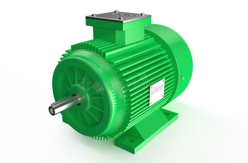 Βιομηχανικός πράσινος ηλεκτρικός κινητήρας διανυσματική απεικόνιση