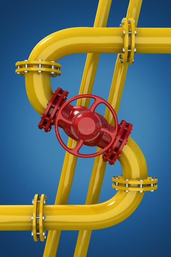 βιομηχανικός χάλυβας σωλήνων σωληνώσεων αερίου λεπτομέρειας περιοχής κίτρινος στοκ φωτογραφία με δικαίωμα ελεύθερης χρήσης
