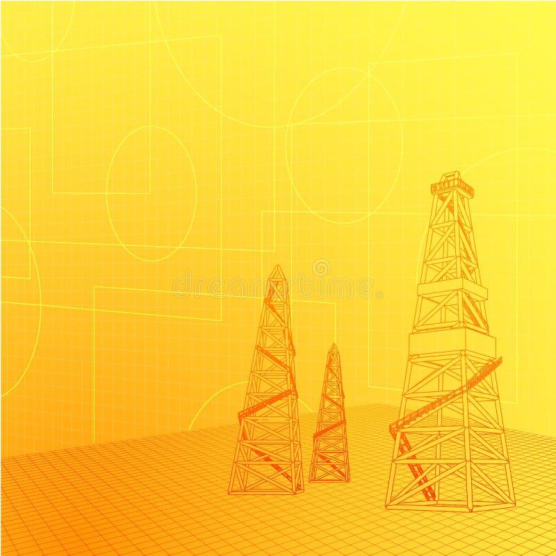 Βιομηχανικό έμβλημα διανυσματική απεικόνιση