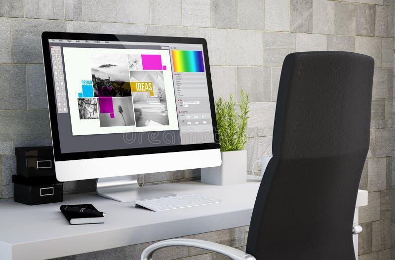 βιομηχανικό γραφικό σχέδιο χώρου εργασίας στοκ εικόνα με δικαίωμα ελεύθερης χρήσης