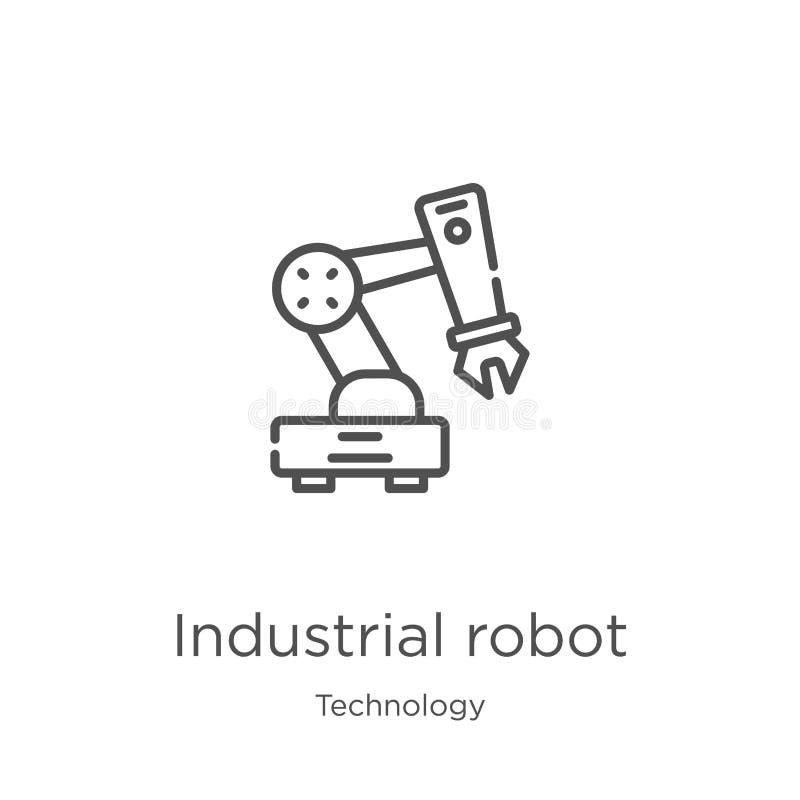 βιομηχανικό διάνυσμα εικονιδίων ρομπότ από τη συλλογή τεχνολογίας Λεπτή διανυσματική απεικόνιση εικονιδίων περιλήψεων ρομπότ γραμ απεικόνιση αποθεμάτων