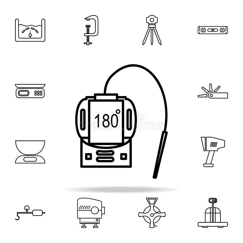 βιομηχανικό εικονίδιο θερμομέτρων Καθολικό εικονιδίων οργάνου μέτρησης που τίθεται για τον Ιστό και κινητό απεικόνιση αποθεμάτων