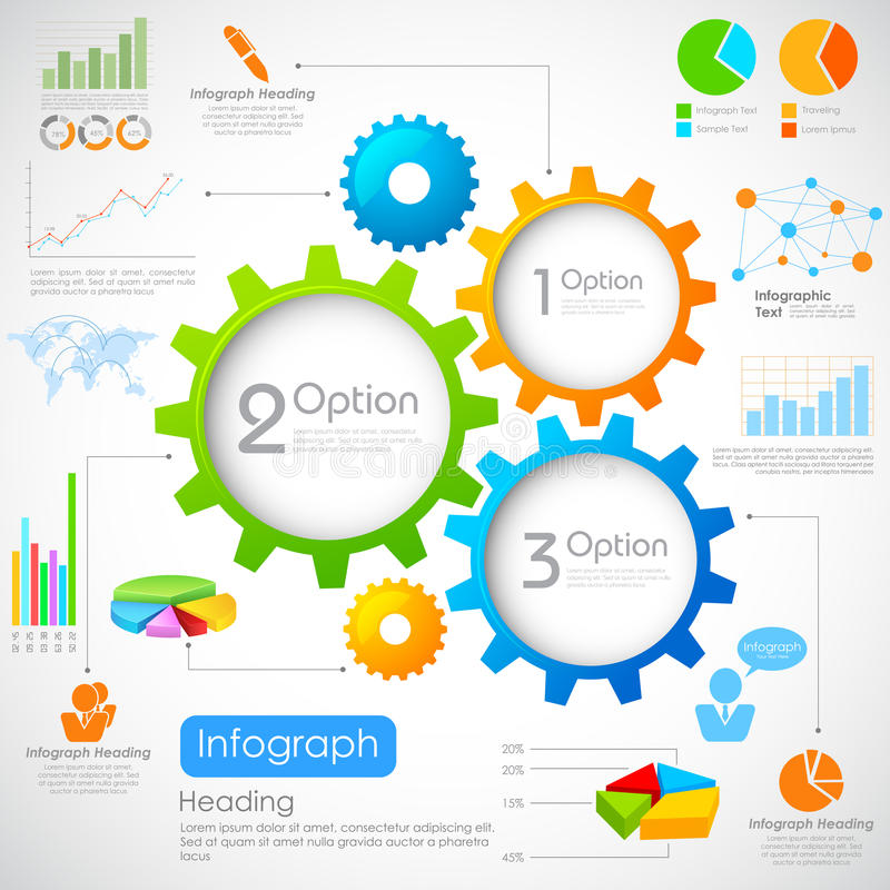 Βιομηχανικό διάγραμμα Infographics απεικόνιση αποθεμάτων