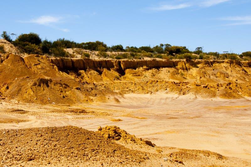 Βιομηχανικό κοίλωμα άμμου στοκ φωτογραφία με δικαίωμα ελεύθερης χρήσης
