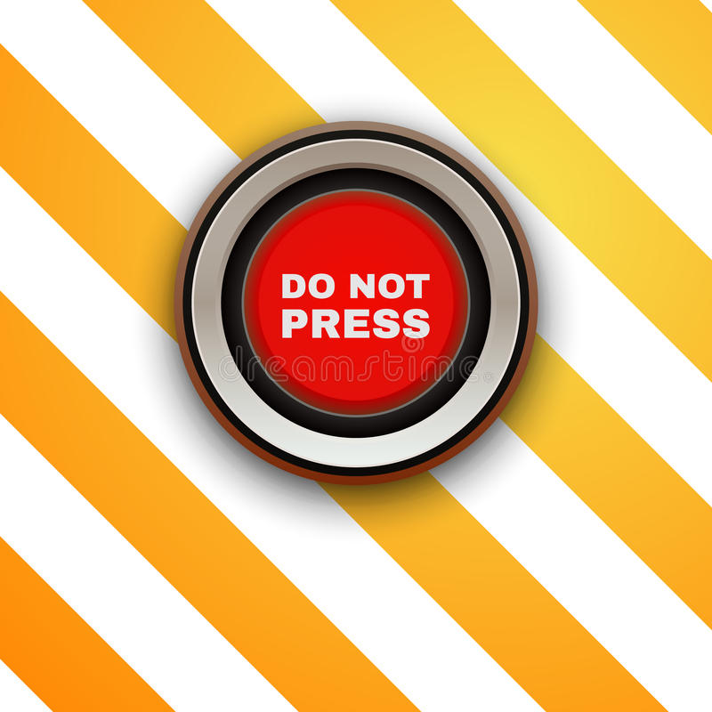 Βιομηχανικό κουμπί Μην πιέστε διανυσματική απεικόνιση