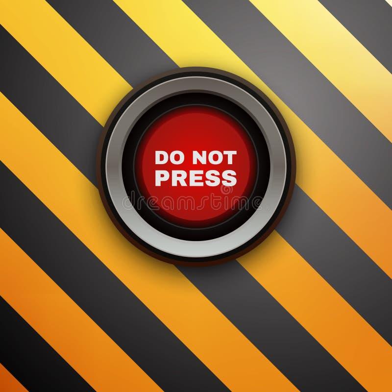 Βιομηχανικό κουμπί Μην πιέστε απεικόνιση αποθεμάτων