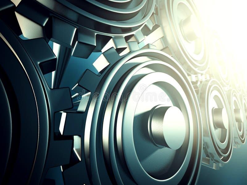 Βιομηχανικό μεταλλικό λειτουργώντας cogwheel υπόβαθρο εργαλείων στοκ εικόνα