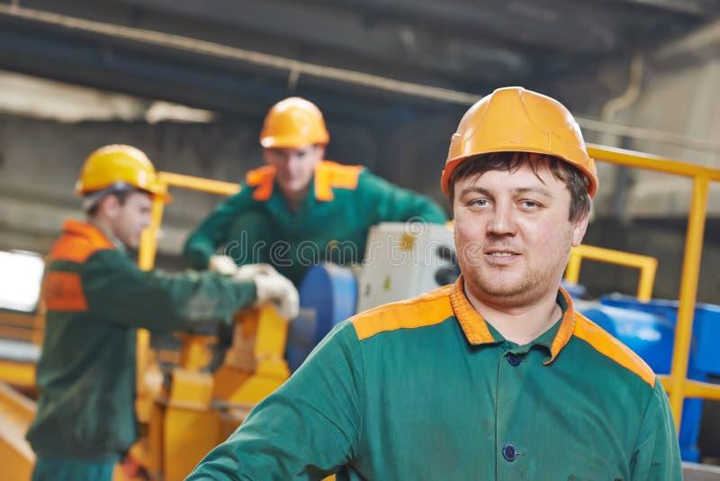 Βιομηχανικό πορτρέτο βιομηχανικών εργατών στοκ εικόνες με δικαίωμα ελεύθερης χρήσης