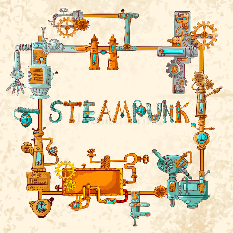 Βιομηχανικό πλαίσιο μηχανών απεικόνιση αποθεμάτων