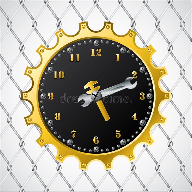 Βιομηχανικό ρολόι σχεδίου διανυσματική απεικόνιση