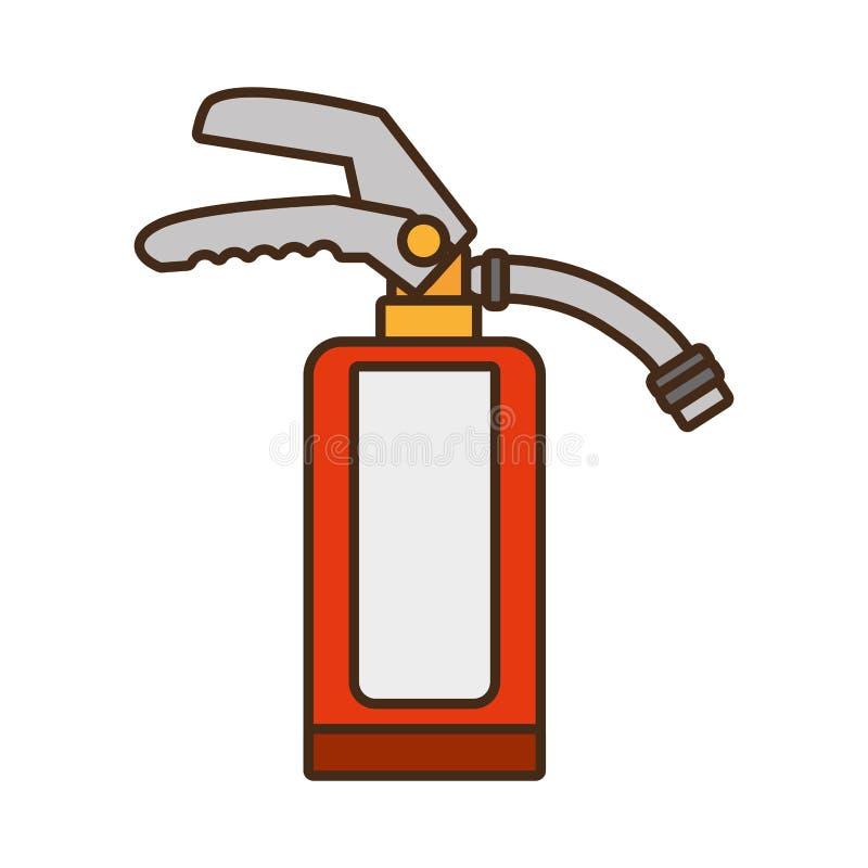 Βιομηχανικό σχέδιο ασφάλειας ασφάλειας πυροσβεστήρων κινούμενων σχεδίων ελεύθερη απεικόνιση δικαιώματος