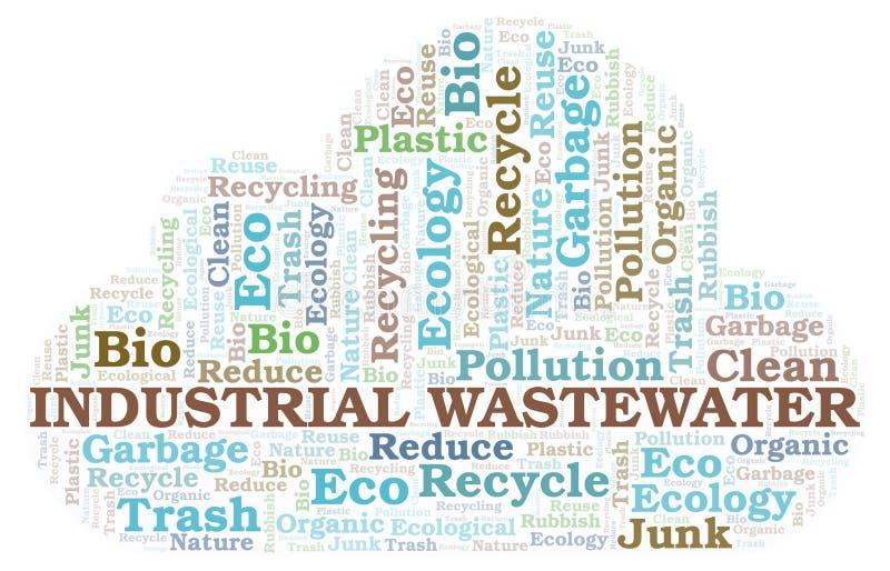 Βιομηχανικό σύννεφο λέξης απόβλητου ύδατος διανυσματική απεικόνιση