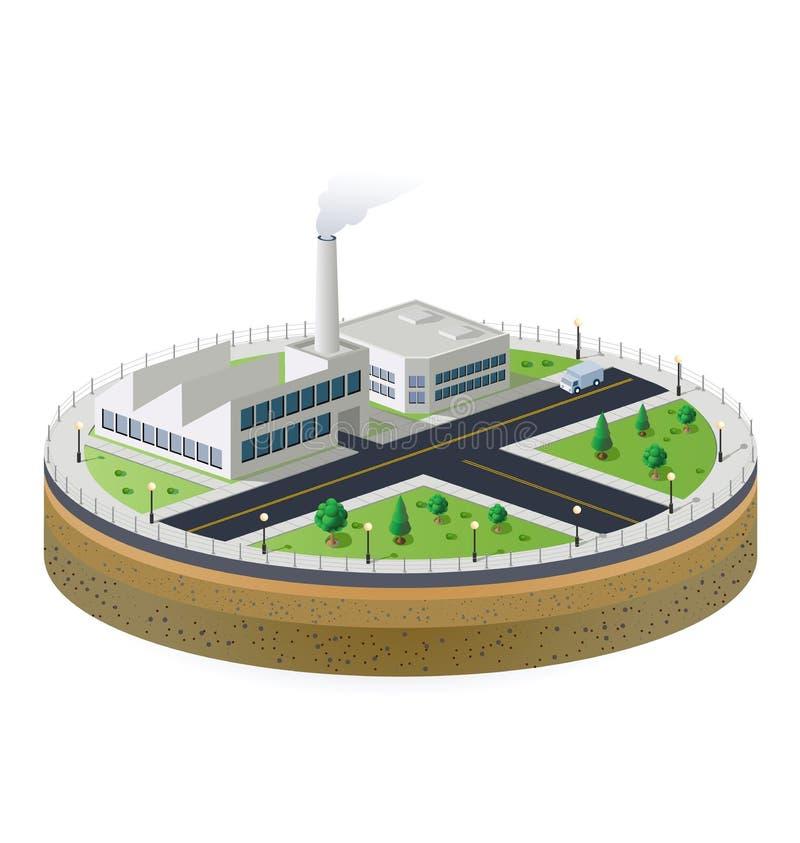 βιομηχανικό φυτό ελεύθερη απεικόνιση δικαιώματος